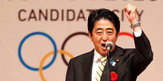 Shinzo Abe.  Yuya Shino / TT NYHETSBYRÅN