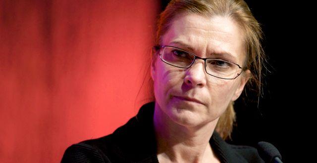 Lena Nitz, Polisförbundet. ULF PALM / TT / TT NYHETSBYRÅN