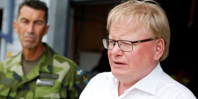 Peter Hultqvist, försvarsminister. Mats Andersson/TT / TT NYHETSBYRÅN