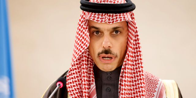 Saudiarabiens utrikesminister prins Faisal bin Farhan.  Salvatore Di Nolfi / TT NYHETSBYRÅN