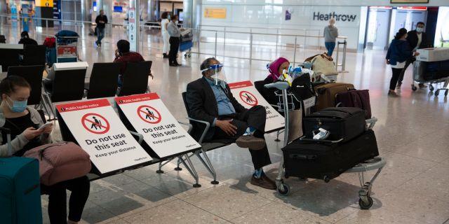 Heathrows flygplats.  Matt Dunham / TT NYHETSBYRÅN