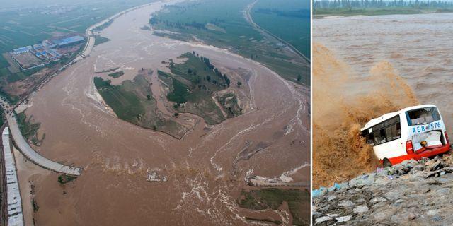 Over 20 doda i oversvamningar i kina