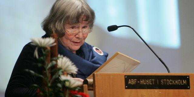 Lisbeth Palme. Fredrik Sandberg / TT / TT NYHETSBYRÅN