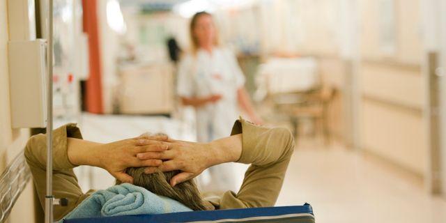 En patient på akuten på Södersjukhuset i Stockholm. Arkivbild. LEIF R JANSSON / TT / TT NYHETSBYRÅN