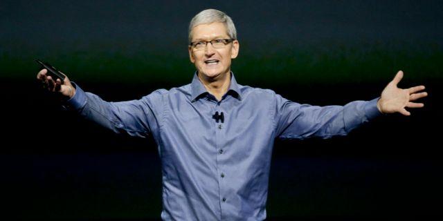 Apples vd Tim Cook. Arkivbild. Eric Risberg / TT / NTB Scanpix