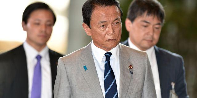 Japans finansminister till sjukhus