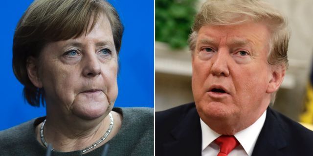 Angela Merkel/Donald Trump. TT