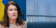Utrikesminister Ann Linde / Öresundsbron.  TT