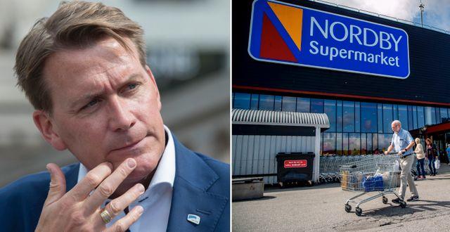 Kårstein Eidem Løvaas/Shoppingcenter i Strömstad nära gränsen till Norge TT