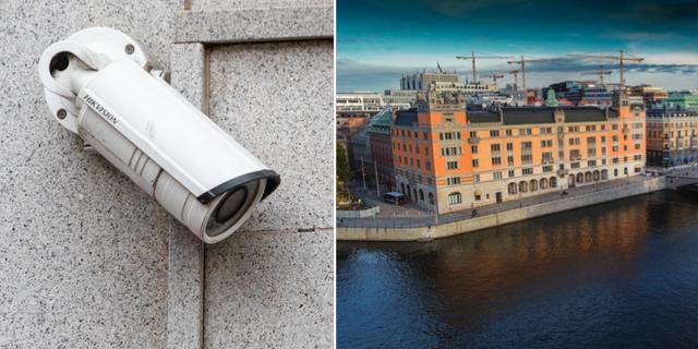 Arkivbilder på övervakningskamera och regeringskansliet  TT