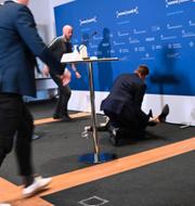 Tanja Erichsen faller ihop Philip Davali/Ritzau Scanpix