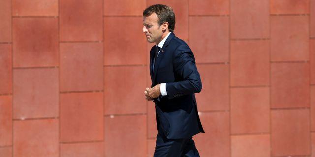Emmanuel Macron. Armando Franca / TT / NTB Scanpix