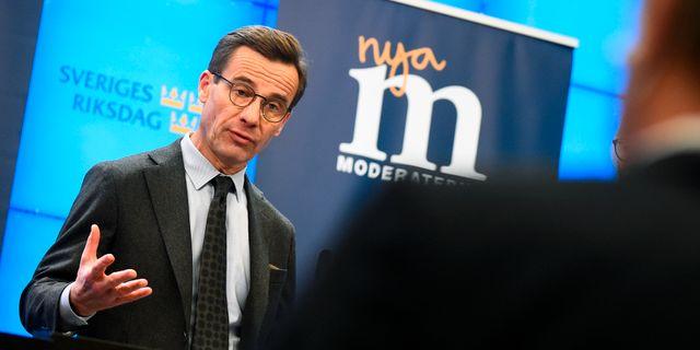Ulf Kristersson (M). Hanna Franzén/TT / TT NYHETSBYRÅN