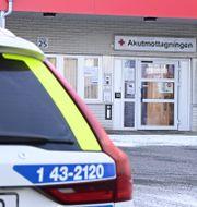 Exteriör av Höglandssjukhuset i Vetlanda där några av de skadade vårdades efter attacken.  MIKAEL FRITZON/TT / TT NYHETSBYRÅN