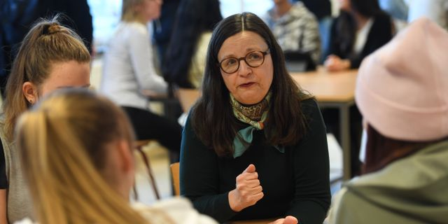 Utbildningsminister Anna Ekström (S)  Henrik Montgomery/TT / TT NYHETSBYRÅN