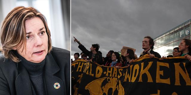 Isabella Lövin/Klimatdemonstrationer i Spanien. TT