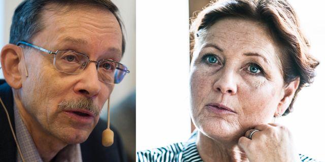 Lars Calmfors och Marie Nilsson. TT
