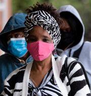 Jacqueline Strong köar för att förtidsrösta i Atlanta, 14 december. Ben Gray / TT NYHETSBYRÅN