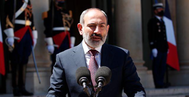 Armeniens premiärminister Nikol Pasjinjan.  Francois Mori / TT NYHETSBYRÅN