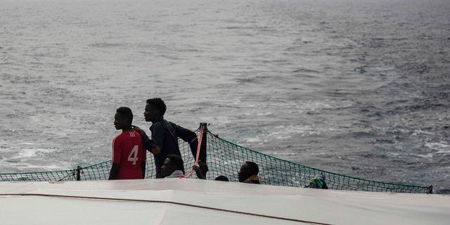 Bild från helgens räddningsaktioner. OLMO CALVO / AFP