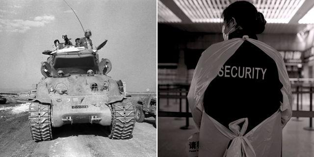 Yom Kippur-kriget 1973, flygplatskontroll i Shanghai. TT