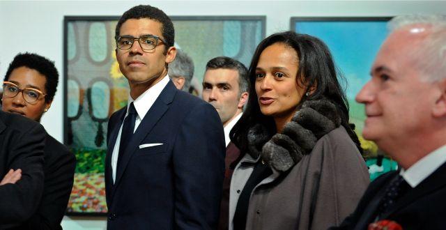 Isabel dos Santos, tillsammans med sin make Sindika Dokolo. Paulo Duarte / TT NYHETSBYRÅN