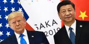 Arkivbild: USA:s president Donald Trump och Kinas president Xi Jinping.  BRENDAN SMIALOWSKI / AFP