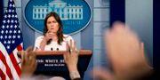 Vita huset pressekreterare Sarah Huckabee Sanders. Andrew Harnik / TT / NTB Scanpix