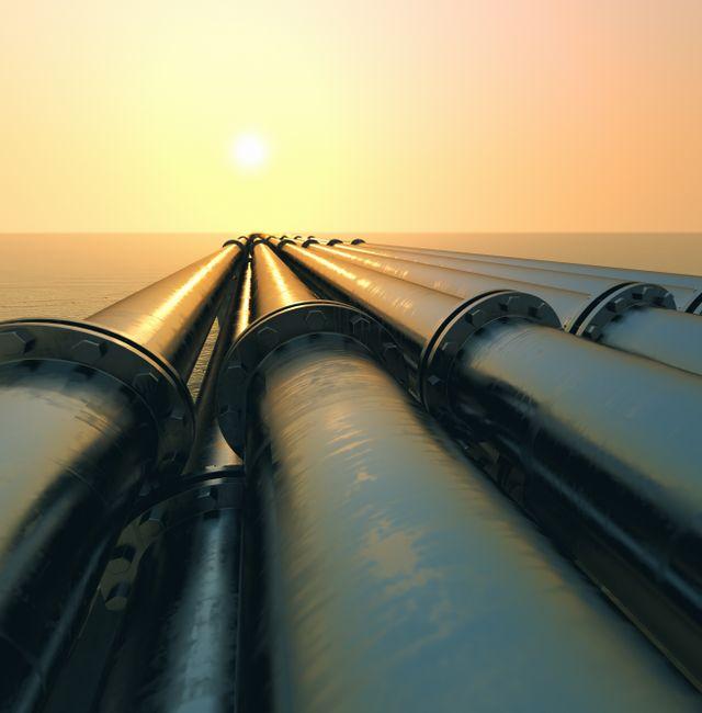 Naturgasledningar.  Shutterstock