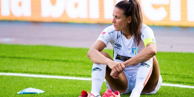 Göteborgs Beata Kollmats deppar efter förlusten. KENTA JÖNSSON / BILDBYRÅN
