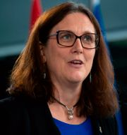 Cecilia Malmström. SEBASTIEN ST-JEAN / AFP