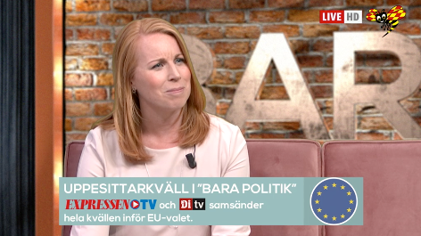 Annie Lööf. Expressen tv
