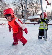 Lek på en förskola i Umeå. JOHAN GUNSEUS / TT / TT NYHETSBYRÅN