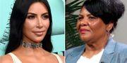Kim Kardashian West och Alice Marie Johnson. TT NYHETSBYRÅN