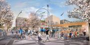Visionsbild för nya Korsvägen. Göteborgs stad