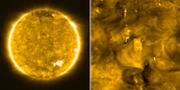 Närbilder på solen. TT/ESA