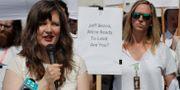 Emily Cunningham och Kathryn Dellinger är anställda på Amazon. Ted S. Warren / TT NYHETSBYRÅN