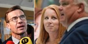 Ulf Kristersson, Annie Lööf och Michael Arthursson. TT