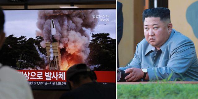Bild från fredagsnattens vapentest/arkivbild på Kim Jong-Un. TT