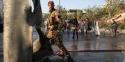 Afghansk polis i Kabul. Rafiq Maqbool / TT NYHETSBYRÅN/ NTB Scanpix
