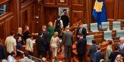 Medlemmar ur Kosovoas parlament. STRINGER / AFP
