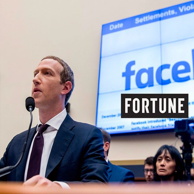 File photo shows Facebook CEO Mark Zuckerberg testifying before a House Financial Services Committee hearing on Capitol Hill in Washington, 2019. Andrew Harnik / TT