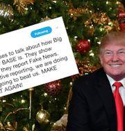 USA:s president Donald Trump.  TT/Twitter