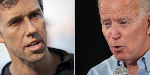 Beto O'Rourke och Joe Biden.  TT/ AFP