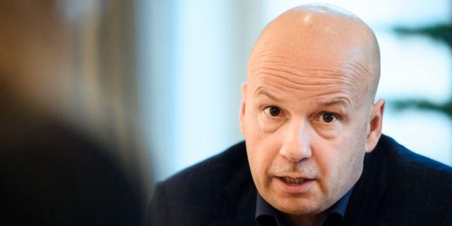 Christian Fredrikson, vd på Fingerprint Cards.  Erik Simander/TT / TT NYHETSBYRÅN