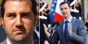 Rami Makhlouf och Bashar al-Assad.  TT