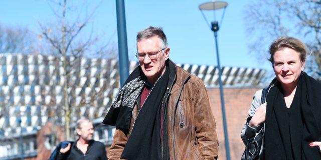 Anders Tegnell på väg till presskonferensen.  Fredrik Sandberg/TT / TT NYHETSBYRÅN