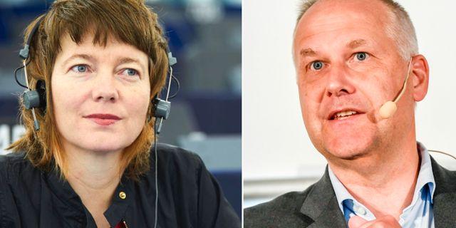 Malin Björk och Jonas Sjöstedt.  TT