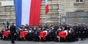 Fyra poliser dog i knivattacken. LUDOVIC MARIN / AFP