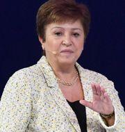 Kristalina Georgieva, chef för IMF.  KARIM SAHIB / AFP